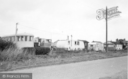 Barmston, The Caravan Camp c.1955