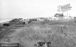 Barmston, The Caravan Site c.1955