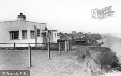 Barmston, The South Cliff Bungalows c.1960