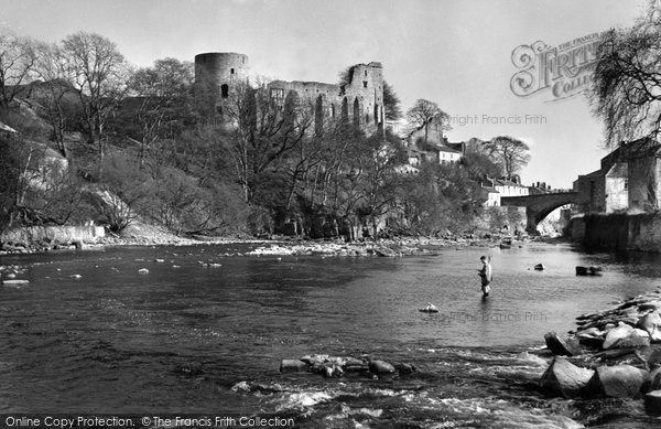 Photo of Barnard Castle, and River Tees c1959, ref. b23180