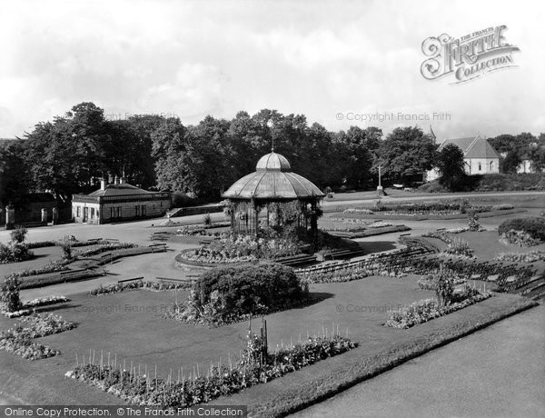 Photo of Barnard Castle, Bowes Museum Gardens 1929