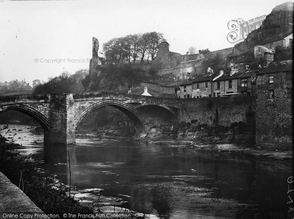 Barnard Castle, Bridge And Castle c.1930
