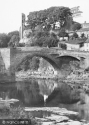 Barnard Castle, Castle And Bridge c.1950