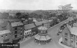 Barnard Castle, From Church Tower c.1950
