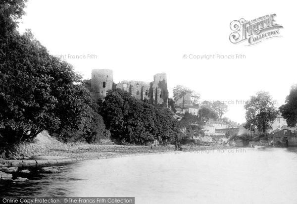 Barnard Castle, From The River Tees 1892