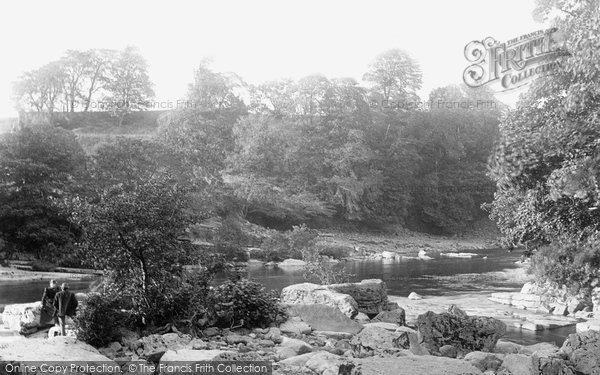Photo of Barnard Castle, Meeting of Tees and Greta 1892, ref. 30693
