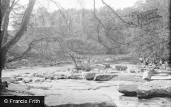 Barnard Castle, Meeting Of Waters c.1932