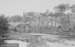 Barnard Castle, River And Bridge 1892