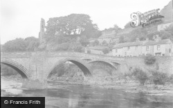 Barnard Castle, The Bridge And Castle 1951