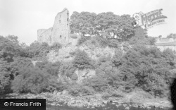 Barnard Castle, The Castle From The River 1951