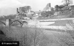 Barnard Castle, The Castle From The River 1962