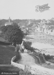 Barnard Castle, The River 1892