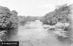 Barnard Castle, The River And Viaduct 1951