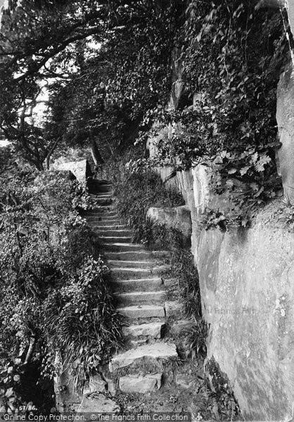 Barnard Castle, The Steps, Moss's Leap 1914