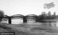 Barnes, The River, Barnes Bridge c.1965