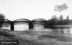 Barnes, The River, Barnes Bridge c.1965