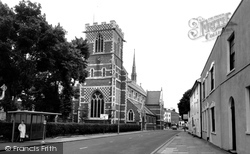 Barnet, St John's Church From Wood Street c.1965