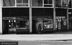 Shops In The Post Office Buildings c.1965, Barnoldswick