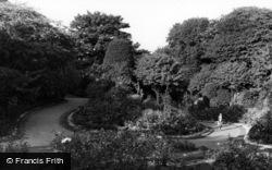 Barnsley, Locke Park, Flower Gardens c.1955