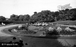 Locke Park, Flower Gardens c.1955, Barnsley