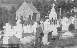 Barnstaple, A Man In The Cemetery 1890