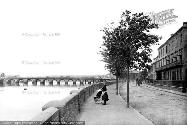 Barnstaple, Bridge And Taw Vale Parade 1890