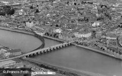 Bridge From The Air c.1965, Barnstaple