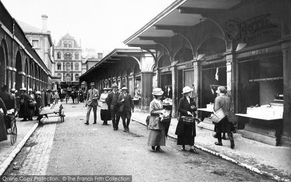 Barnstaple, Butchers Row 1919