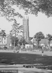 Barnstaple, Church From Rock Park c.1955