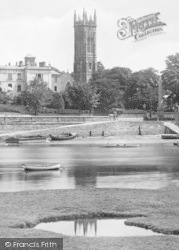 Barnstaple, Church From The River 1929