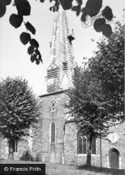 Barnstaple, Church, The Crooked Spire And Sundial c.1960