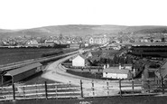 Barnstaple, from above the Railway Station 1874