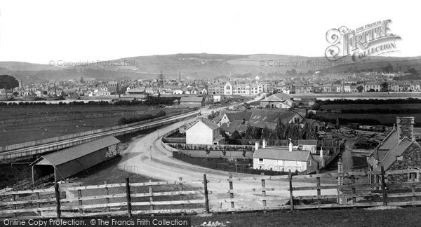 Photo of Barnstaple, from above the Railway Station 1874