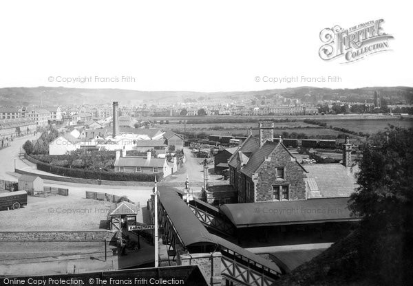 Photo of Barnstaple, from the Railway Station 1894