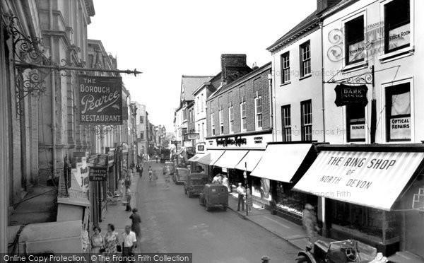Photo of Barnstaple, High Street c1955