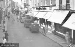 Barnstaple, High Street c.1955