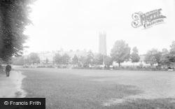 Barnstaple, Holy Trinity Church From Pleasure Gardens c.1890
