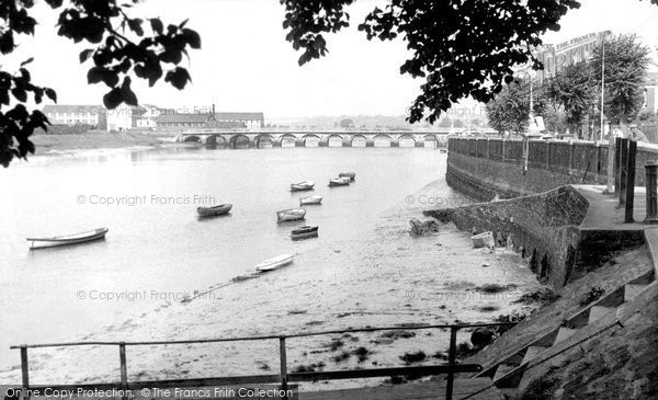 Barnstaple, Long Bridge c.1955