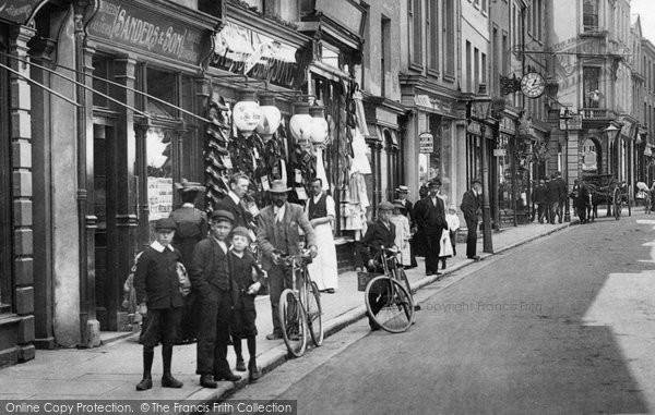 Barnstaple, People In The High Street 1903