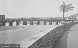 Barnstaple, River Taw And Bridge 1900