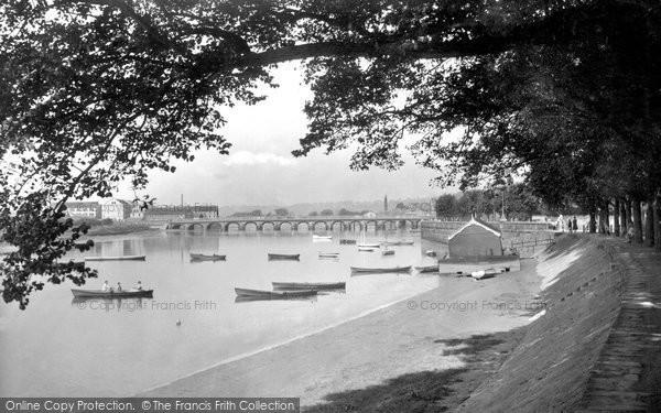 Barnstaple, River Taw And Bridge 1935