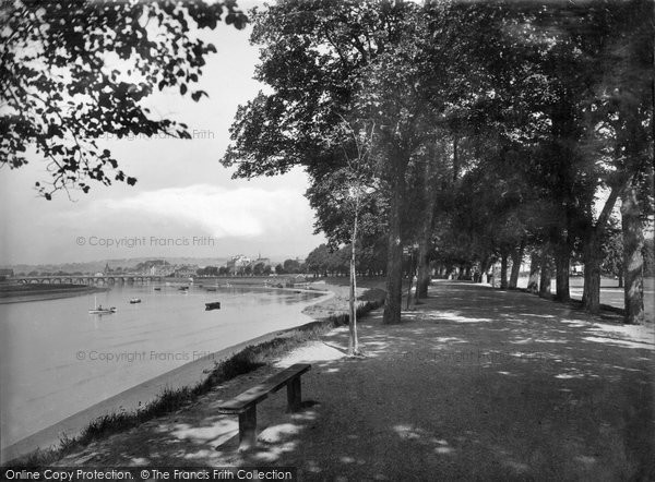 Barnstaple, River Taw And South Walk 1935
