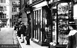 Barnstaple, Shops, High Street 1903