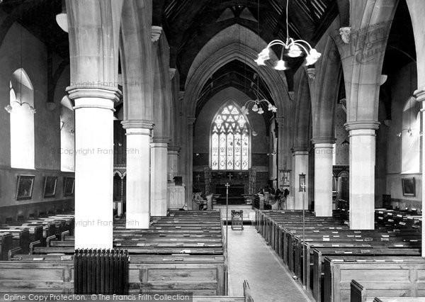 Barnstaple, St Mary's Church Interior 1919