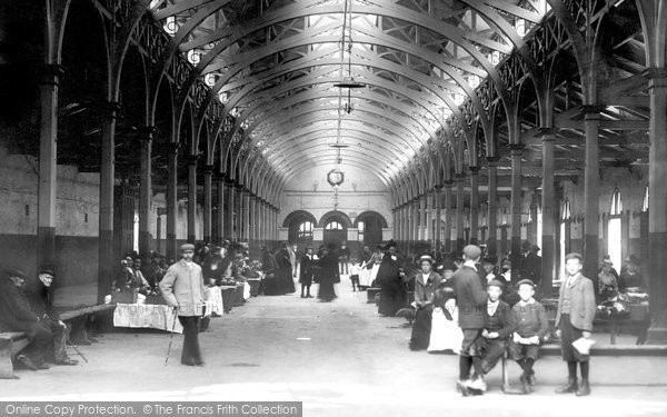 Barnstaple, The Pannier Market 1903