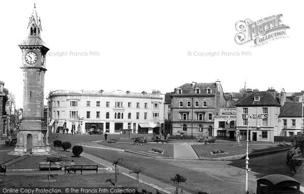Barnstaple, The Square And Clock Tower c.1955