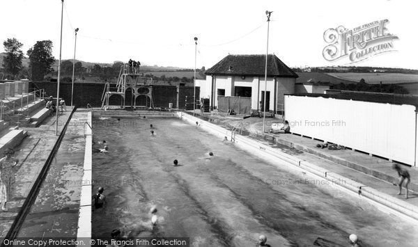 Barnstaple, The Swimming Pool, Rock Park c.1960