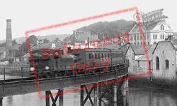Barnstaple, Train Crossing The Railway Bridge 1912