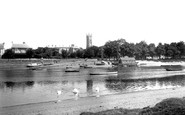 Barnstaple, Trinity Church And The River Taw 1935
