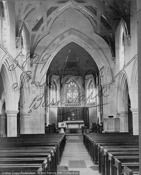 Barnstaple, Trinity Church Interior c.1871